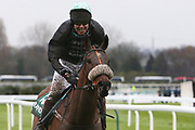 It's a dirty job - as a mud covered  Mr Mercuria and Will ramsey come in after the l 4.05PM The Randox Health Foxhunters' Steeple Chase (Class 2) 2m 5f during the Grand National Festival Week at Aintree, Liverpool, United Kingdom on 4 April 2019.
