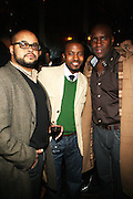 l to r: Brett Wright, Torian Robinson and Len Burnett at The Birthday Celebration for Kelli Coleman held at The Avenue on Decemeber 6, 2009 in New York City