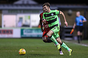 Forest Green Rovers Christian Doidge(9) runs forward during the EFL Sky Bet League 2 match between Forest Green Rovers and Grimsby Town FC at the New Lawn, Forest Green, United Kingdom on 22 January 2019.