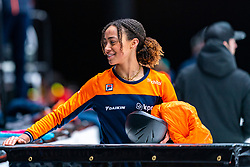 Georgie Dalrymple during the training for ISU World Cup Finals Shorttrack 2020 on February 12, 2020 in Sportboulevard Dordrecht.