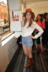ANOUSHKA BECKWITH at the opening party for Nicholas Kirkwood's new store at 5 Mount Street, London on 12th May 2011.