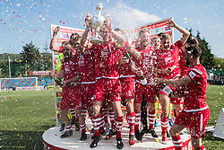 NEWTOWN, WALES - Sunday, May 6, 2018: Connahs Quay Nomads lift the Welsh Cup following a 4-1 victory in the FAW Welsh Cup Final between Aberystwyth Town and Connahs Quay Nomads at Latham Park. (Pic by Paul Greenwood/Propaganda)