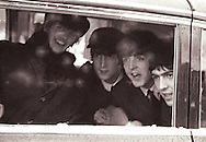 Beatles  on their first trip to Washington, DC February 11, 1964.  Photo by dennis brack