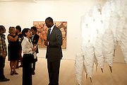Nic Nicandrou ; Tidjane Thiam , Indonesian Eye Contemporary Art Exhibition Reception, Saatchi Gallery. London. 9 September 2011. <br /> <br />  , -DO NOT ARCHIVE-© Copyright Photograph by Dafydd Jones. 248 Clapham Rd. London SW9 0PZ. Tel 0207 820 0771. www.dafjones.com.
