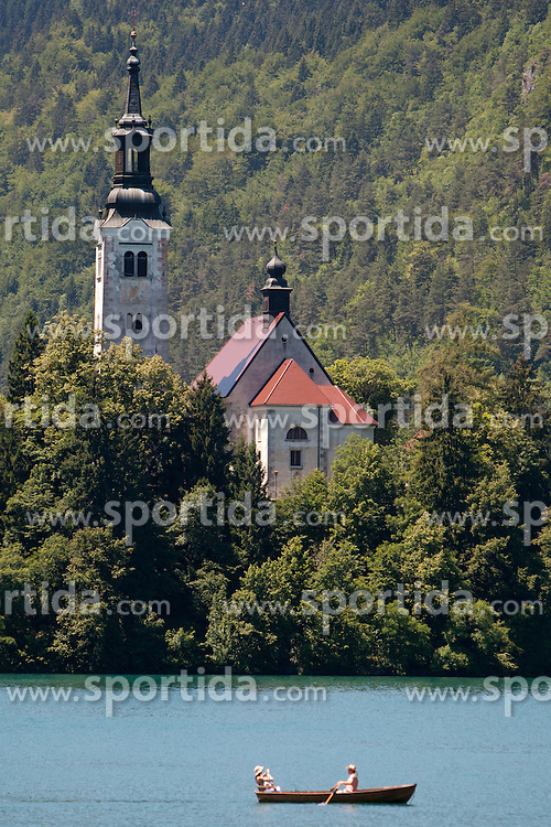 Bled lake during 3rd Stage (219 km) at 19th Tour de Slovenie 2012, on June 16, 2012, in Bled, Slovenia. (Photo by Urban Urbanc / Sportida.com)