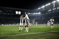 March 8, 2019 - Torino, Torino, Italia - 8 Marzo 2019 Torino, Italia .Sport.Calcio.Juventus Vs Udinese - Campionato di calcio Serie A TIM 2018/2019 - Allianz Stadium..Nella foto: Moise Kean (Juventus F.C.);esulta dopo il gol 2-0. .Photo LaPresse - Marco Alpozzi.March 08, 2019 Turin, Italy.sport.soccer.Juventus Vs Udinese- Italian Football Championship League A TIM 2018/2019 - Allianz Stadium.In the pic:Moise Kean (Juventus F.C.); celebrating goal 2-0 (Credit Image: © Marco Alpozzi/Lapresse via ZUMA Press)