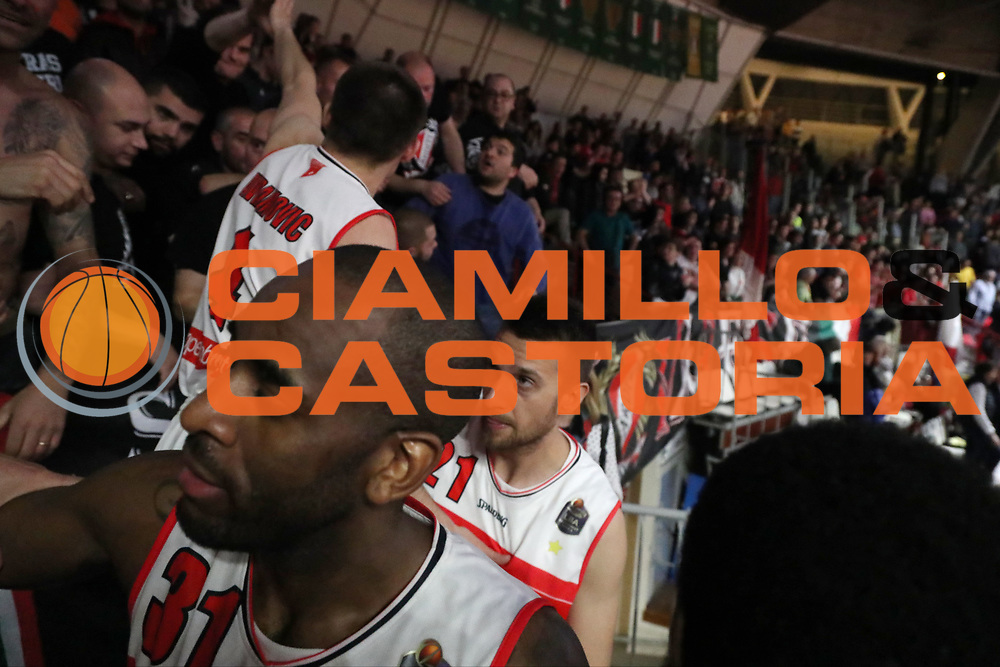 Christian Eyenga Giancarlo Ferrero<br /> Openjobmetis Pallacanestro Varese - Vanoli Cremona<br /> Lega Basket Serie A 2016/2017<br /> Varese 30/04/2017<br /> Foto Ciamillo-Castoria
