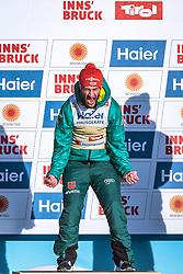 23.02.2019, Bergiselschanze, Innsbruck, AUT, FIS Weltmeisterschaften Ski Nordisch, Seefeld 2019, Skisprung, Herren, Flower Zeremonie, im Bild Markus Eisenbichler (GER) // Markus Eisenbichler of Germany during the Flowers ceremony for the men's Skijumping HS130 competition of FIS Nordic Ski World Championships 2019 at the Bergiselschanze in Innsbruck, Austria on 2019/02/23. EXPA Pictures © 2019, PhotoCredit: EXPA/ Dominik Angerer