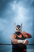 A Luchador at a Lucha Libre match in Oaxaca, Mexico 2012