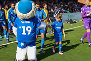 Mascot during the EFL Sky Bet League 1 match between AFC Wimbledon and Bristol Rovers at the Cherry Red Records Stadium, Kingston, England on 21 September 2019.