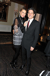 STEPHEN & ASSIA WEBSTER at an evening of Cabaret by Nicky Haslam held in the Beaufort Bar, The Ritz, London on 11th December 2011.