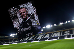 The cover for the match day programme of the Sky Bet Championship fixture between Derby County and Barnsley featuring Wayne Rooney of Derby County on what is expected to be his debut - Mandatory by-line: Robbie Stephenson/JMP - 02/01/2020 - FOOTBALL - Pride Park Stadium - Derby, England - Derby County v Barnsley - Sky Bet Championship