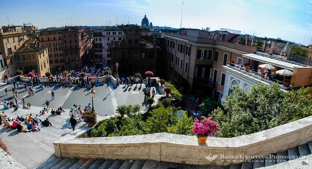 Italy, Rome. The famous Spanish Steps.