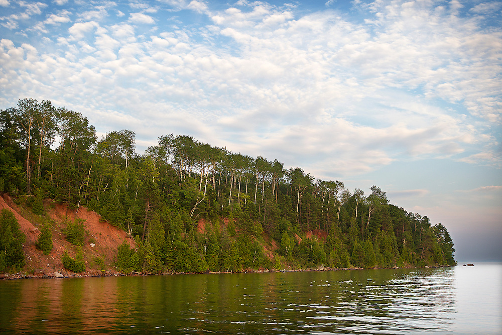 Cliffs along Stockton Island in the Apostle Islands, Saturday, August 9, 2014