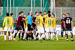 Raffle between teams NK Triglav and NK Bravo during football match between NK Triglav Kranj and NK Bravo in 17th Round of Prva liga Telekom Slovenije 2019/20, on November 10, 2019 in Sport Park Kranj, Kranj, Slovenia. Photo Grega Valancic / Sportida