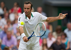 LONDON, ENGLAND - Friday, June 29, 2012: Radek Stepanek (CZE) during the Gentlemen's Singles 3rd Round match on day five of the Wimbledon Lawn Tennis Championships at the All England Lawn Tennis and Croquet Club. (Pic by David Rawcliffe/Propaganda)