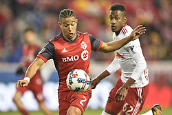 October 30, 2017 - Harrison, New Jersey, U.S - Toronto FC defender JUSTIN MORROW (2) controls a high pass as New York Red Bulls defender MICHAEL MURILLO (62) looks on at Red Bull Arena during the Audi 2017 MLS Cup Playoffs.Eastern Conference Semifinal in Harrison New Jersey Toronto defeats New York 2 to 1 (Credit Image: © Brooks Von Arx via ZUMA Wire)