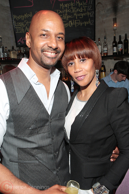 28 April 2011- New York,  NY- l to r: Kenneth Smalltz and Stepfanie Taylor at The Sparkling Celebration for the Birthday of Harriette Cole held at the Galapagos Art Space on April 27, 2011 in Brooklyn, NY Photo Credit: Terrence Jennings