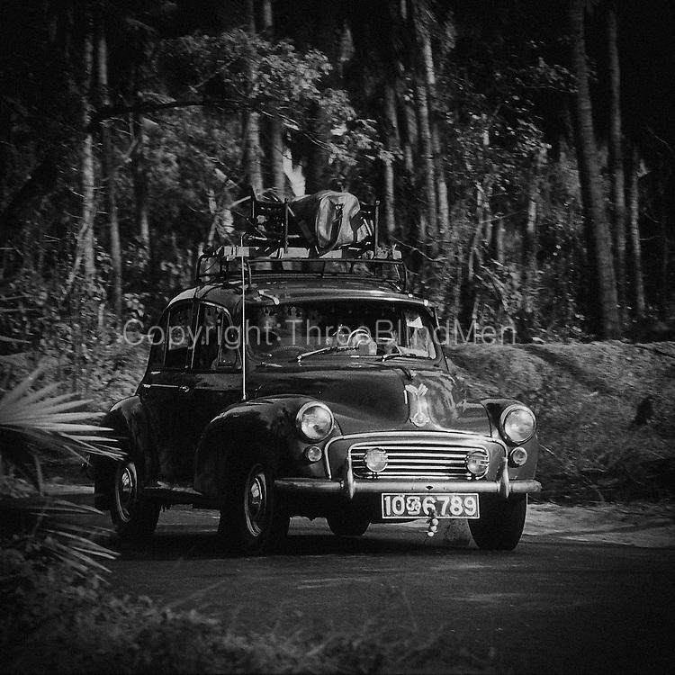Morris Minor on the A9, Jaffna Peninsula near Iyankachchi...September 2002