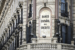April 25, 2013. File Photo -  General View of the Banco Espanol de Credito in Madrid, Spain. Photo By Imago/ i-Images<br />