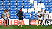 Bryan Habana and the South African players during the South Africa Captain's Run training session in preparation for the Rugby World Cup at the American Express Community Stadium, Brighton and Hove, England on 18 September 2015. Photo by David Charbit.