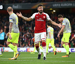 September 14, 2017 - London, Greater London, United Kingdom - Arsenal's Olivier Giroud.during UEFA Europa League Group H match between Arsenal and 1.FC Koln at The Emirates , London 14 Sept 2017  (Credit Image: © Kieran Galvin/NurPhoto via ZUMA Press)