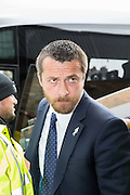 Watford Head coach and Manager Slavisa Jokanovic getting off the coach at the Sky Bet Championship match between Watford and Sheffield Wednesday at Vicarage Road, Watford, England on 2 May 2015. Photo by Phil Duncan.