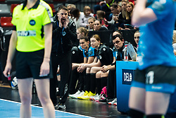Uros Bregar head coach of RK Krim Mercator during handball match between RK Krim Mercator and Brest Bretagne Handball in 2nd main round of Women's DELO EHF Champions League 2019/20, on February 2, 2020 in Kodeljevo, Ljubljana,  Slovenia. Photo Grega Valancic / Sportida