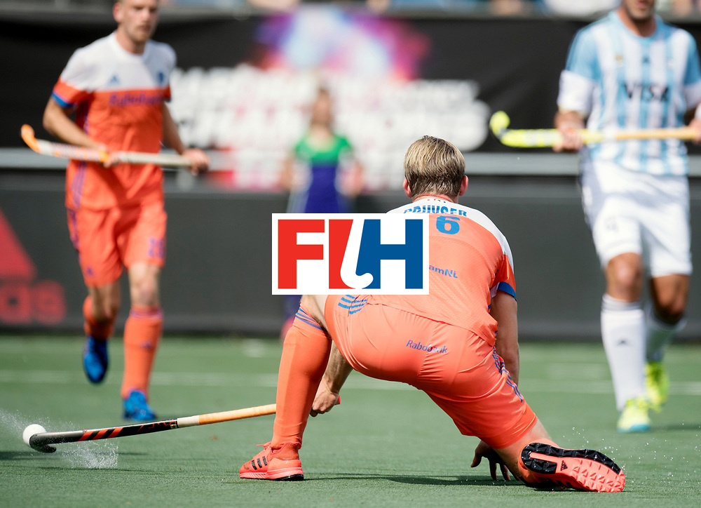 BREDA - Rabobank Hockey Champions Trophy<br /> The Netherlands - Argentina<br /> Photo: Mirco Pruyser deflects it in.<br /> COPYRIGHT WORLDSPORTPICS FRANK UIJLENBROEK