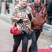 NLD/Amsterdam//20170309 - Herdenkingsdienst Guus Verstraete, Lenie Kraaykamp
