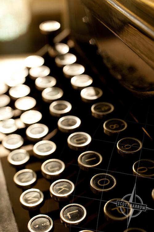 Keys of a Woodstock Manual Typewriter.