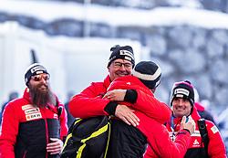 23.02.2019, Bergiselschanze, Innsbruck, AUT, FIS Weltmeisterschaften Ski Nordisch, Seefeld 2019, Skisprung, Herren, im Bild v.l.: Berni Schoedler, Disziplinen Chef Skisprung (SUI), Cheftrainer Ronny Hornschuh (SUI) // Berni Schoedler Disciplines Head of Ski Jumping (SUI) German Headcoach Ronny Hornschuh of Switzerland during the men's Skijumping HS130 competition of FIS Nordic Ski World Championships 2019. Bergiselschanze in Innsbruck, Austria on 2019/02/23. EXPA Pictures © 2019, PhotoCredit: EXPA/ JFK