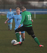 Fairfield (blue) last 16 Scottish Cup clash with Cleland - Dundee Sunday Amateur Football<br /> <br />  - &copy; David Young - www.davidyoungphoto.co.uk - email: davidyoungphoto@gmail.com