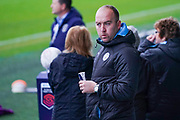 Nick Cushing of Manchester City Women (Manager) during the FA Women's Super League match between Manchester City Women and West Ham United Women at the Sport City Academy Stadium, Manchester, United Kingdom on 17 November 2019.