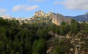 Hilltop castle and village, El Castell de Guadalest, Alicante province, Spain