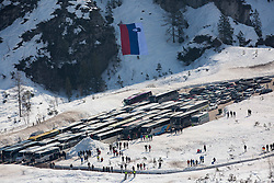 Buses at parking place during Ski Flying Hill Individual Competition at Day 4 of FIS Ski Jumping World Cup Final 2016, on March 20, 2016 in Planica, Slovenia. Photo by Vid Ponikvar / Sportida