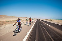 Biking to  Al-Qusayr with the Red Sea on the right and the Eastern Desert on the left.