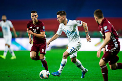 Benjamin Verbic  of Slovenia during the 2020 UEFA European Championships group G qualifying match between Slovenia and Latvia at SRC Stozice on November 19, 2019 in Ljubljana, Slovenia. Photo by Vid Ponikvar / Sportida