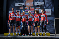 Lotto Soudal sign on for  La Flèche Wallonne Femmes - a 120 km road race starting and finishing in Huy on April 19 2017 in Liège, Belgium.