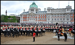 HM The Queen and the Duke Of Edinburgh attend for the Queen's Trooping of the Colour, The Queen's Birthday Parade, on Horse Guards Parade, Saturday June 16, 2012. Photo by Andrew Parsons/i-Images..All Rights Reserved ©Andrew Parsons/i-Images .See Special Instructions