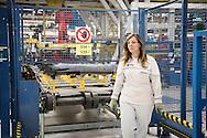 San Nicola di Melfi, Basilicata, Italia, 28/05/2015<br /> La linea produttiva all'interno dello stabilimento FCA (Fiat Chrysler Automotive) di Melfi, in Basilicata, uno dei pi&ugrave; grandi e avanzati d'Europa, dove vengono prodotte la Fiat 500X e la Jeep Renegade<br /> <br /> San Nicola di Melfi, Basilicata, Italy, 28/05/2015 <br /> On the production unit of the plant of FCA (Fiat Chrysler Automotive) in Melfi, Basilicata, one of largest and most advanced in Europe, where Fiat 500X and Jeep Renegade are made.