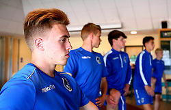 Bristol Rovers Academy players take part in a yoga session at training - Mandatory by-line: Ryan Crockett/JMP - 13/07/2017 - FOOTBALL - Yate Outdoor Sports Complex - Yate, England - Bristol Rovers Youth Team Portraits