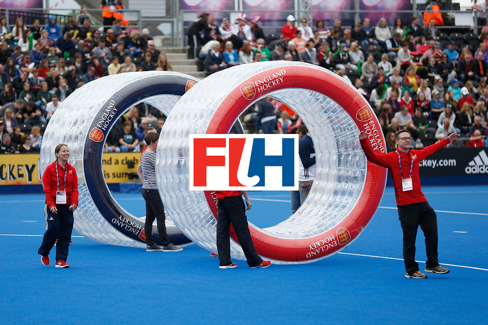 LONDON, ENGLAND - JUNE 18:  Half-time entertainment at during the FIH Women's Hockey Champions Trophy 2016 at Queen Elizabeth Olympic Park on June 18, 2016 in London, England.  (Photo by Joel Ford/Getty Images)