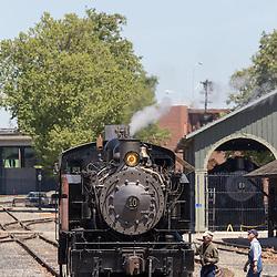 Train in Old Town Sacramento Area
