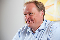 07 SEP 2010, BERLIN/GERMANY:<br /> Dirk Niebel, FDP, Bundesentwicklungshilfeminister, waehrend einem Interview, in seinem Buero, Bundesministerium fuer wirtschaftliche Zusammenarbeit und Entwicklung<br /> IMAGE: 20100907-01-026