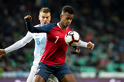 Crnigoj Domen of Slovenia and Ola Kamara of Norway during football match between National Teams of Slovenia and Norway in Final Tournament of UEFA Nations League 2019, on November 16, 2018 in SRC Stozice, Ljubljana, Slovenia. Photo by Urban Urbanc / Sportida