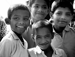 Pakistan, Karachi, 2004. Support through education and shelter at this Edhi Home for Boys helps strong young souls develop.