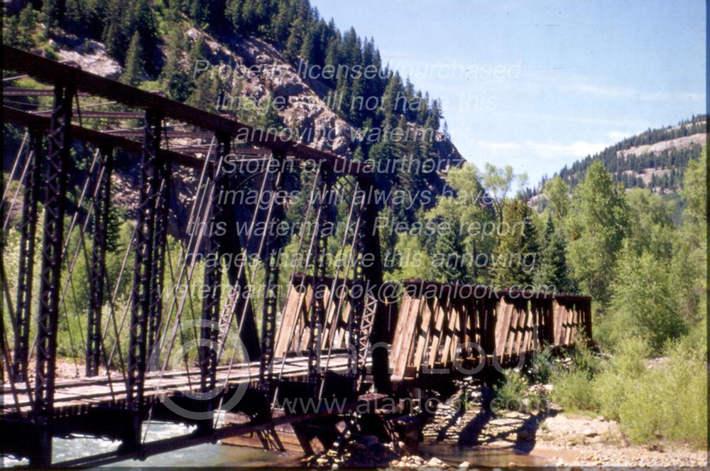 Railroad trestle in mountains