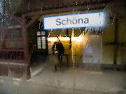 Bahnstation Schöna auf 280 m südlich der Elbe in der Nähe der tschechischen Grenze an einem Herbsttag.<br /> <br /> Railwaystation Schoena close to the German-Czech border  during an autumn day.