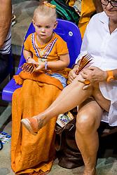 26-08-2017 NED: World Qualifications Netherlands - Slovenia, Rotterdam<br /> De Nederlandse volleybalsters plaatsten zich eenvoudig voor het WK volgend jaar in Japan. Ook Sloveni&euml; wordt met 3-0 verslagen / Jong support Oranje